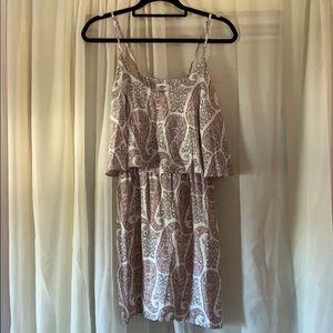 Paisley Print Spaghetti Strap Dress